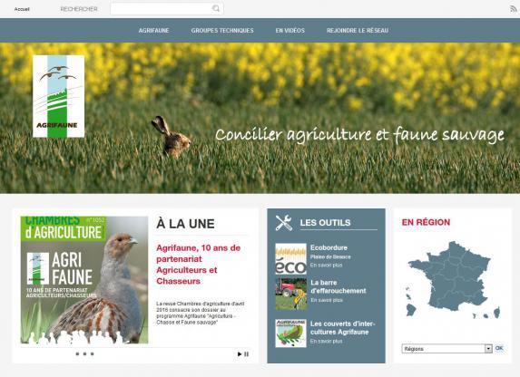 Agrifaune : Création d'un nouveau site dédié
