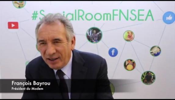 Agriculture & politiques [vidéo] : François Bayrou répond aux agriculteurs