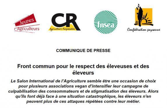 Elevage : Front commun des syndicats agricoles pour défendre l'élevage