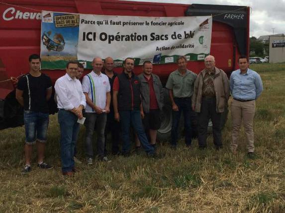 JA : Récolte de l'Opération Sacs de blé
