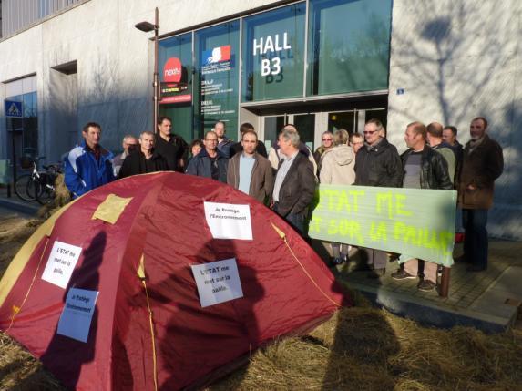 MAEC, aides bio [retour en images] : mobilisation devant la Draaf à Nantes