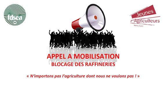 Mobilisation FNSEA/JA : tous à Donges !