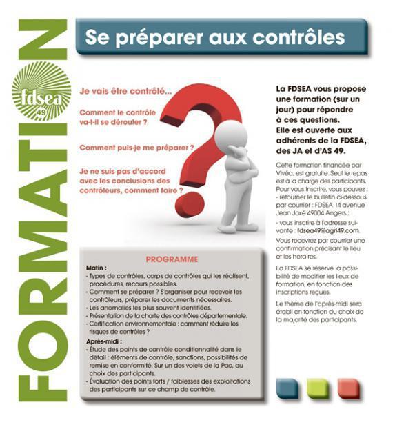 Formation 'Se Préparer aux contrôles' - Bouzillé